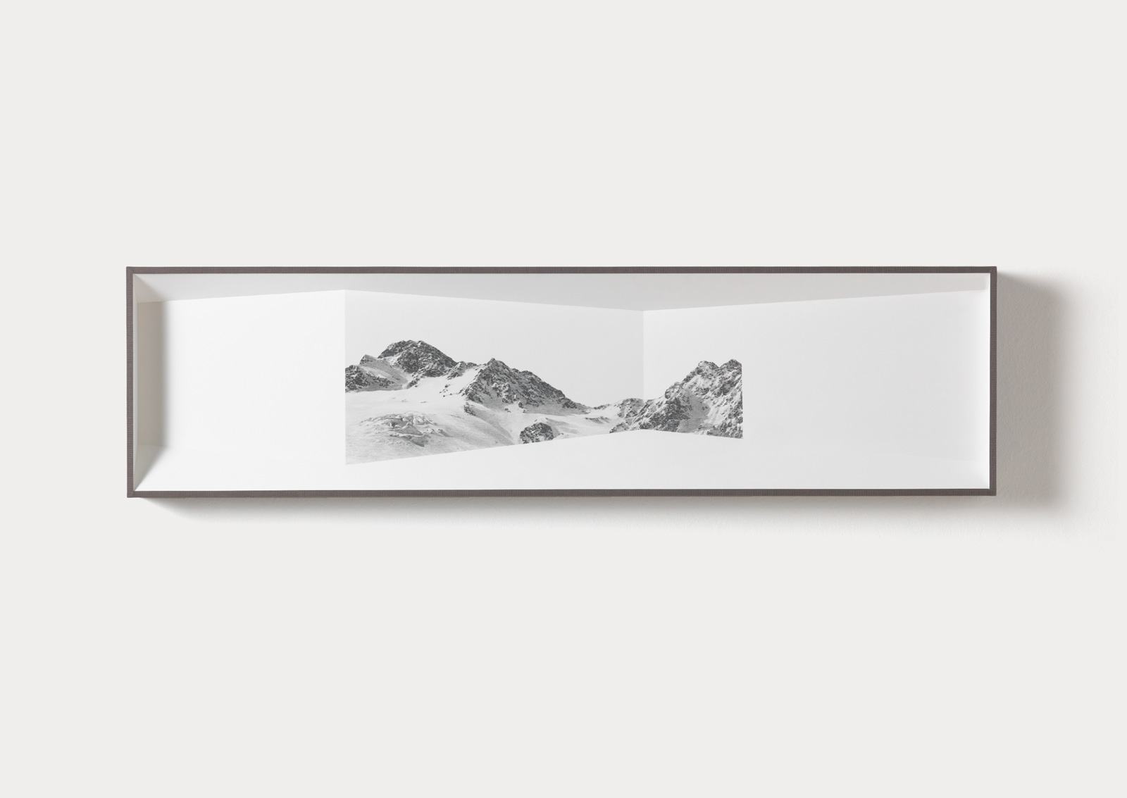 Ausblick 01, 2015 - object with pencil drawing - 24 x 91 x 7 cm